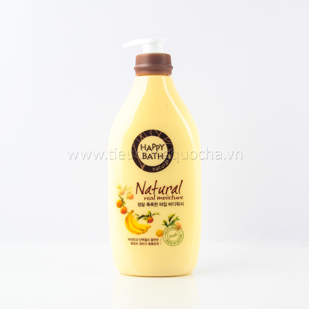 Sữa Tắm Happy Bath - Natural Real Moisture 900ml