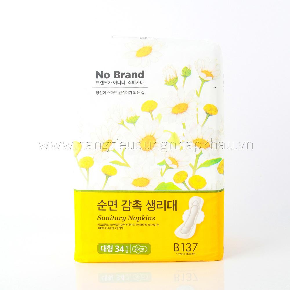Băng Vệ Sinh No Brands Hàn Quốc 34 Miếng