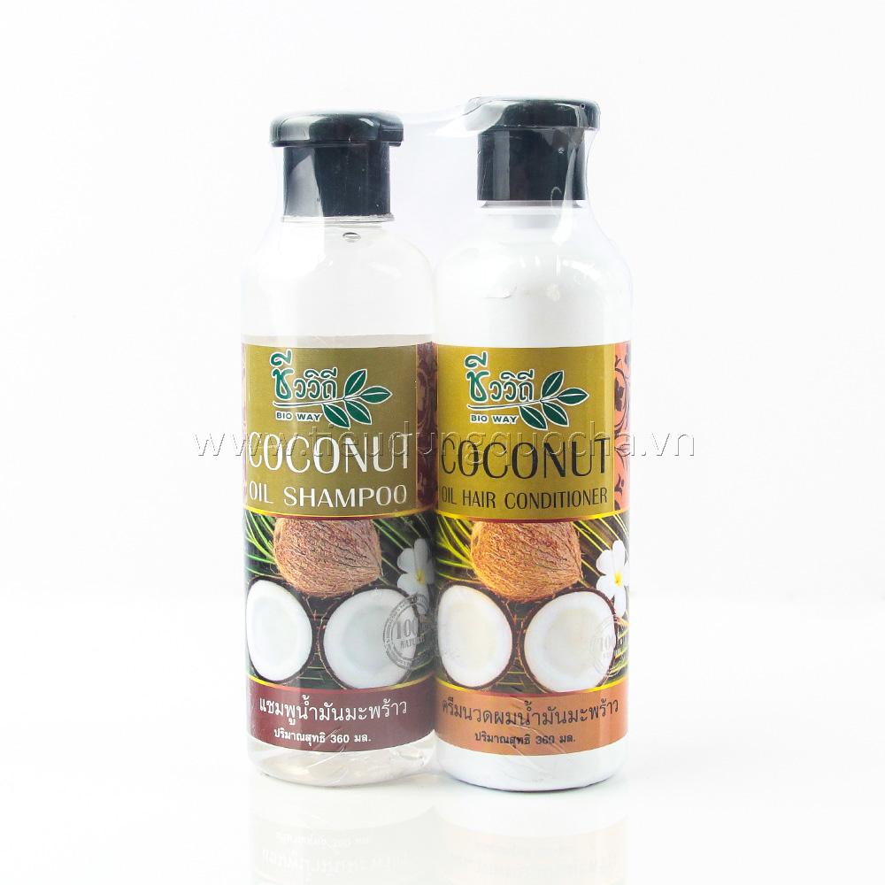 Bộ Dầu Gội và Dầu Xả Coconut
