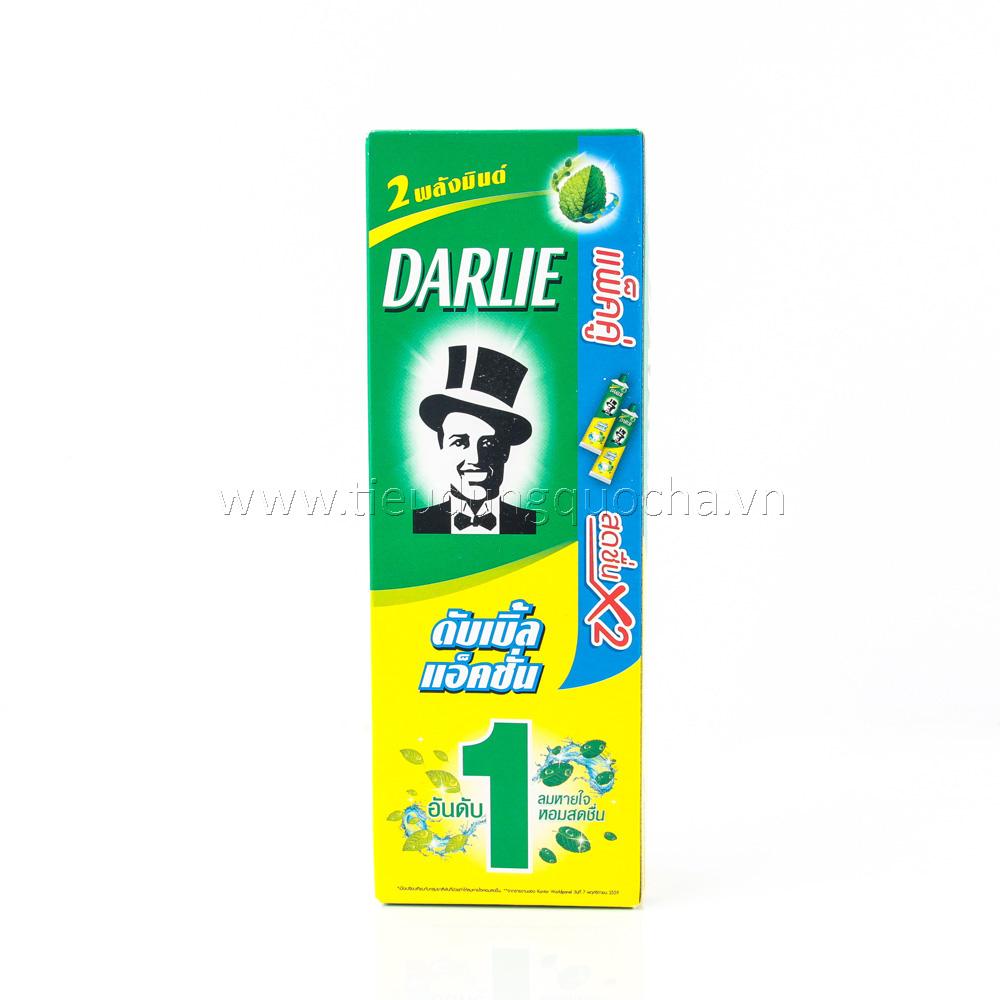 Kem Đánh Răng Darlie Bạc Hà - 2 Tuýp*160g