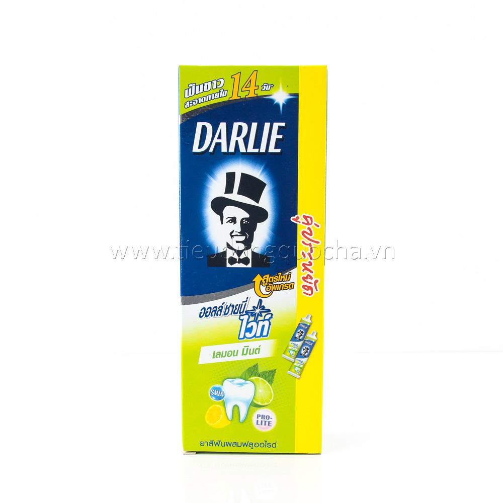 Kem Đánh Răng Darlie Chanh Bạc Hà - 2 Tuýp*160g