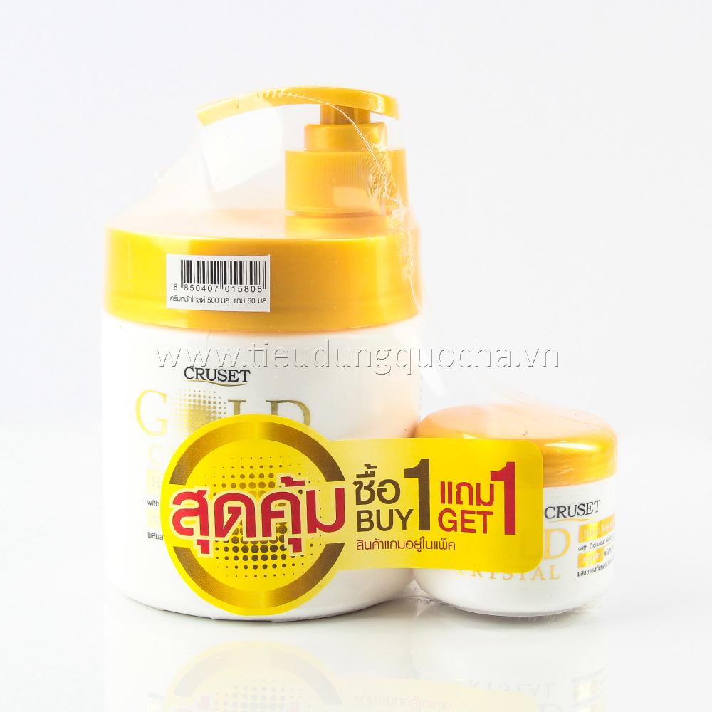 Kem Ủ Tóc Cruset Gold Crytal 500ml