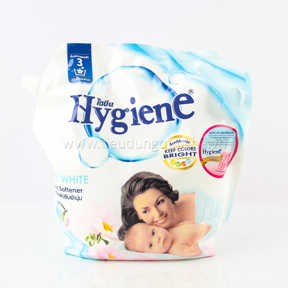 Nước Xả Làm Mềm Vải Hygiene - Soft White 1800ml