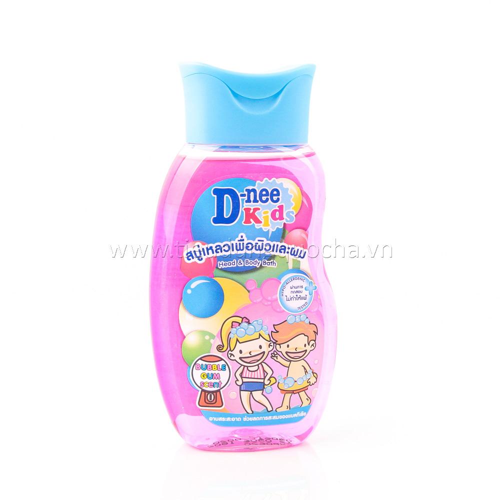 Tắm Gội 2 In 1 Dành Cho Trẻ Em D-nee Kids Hương Bubble Gum 200ml