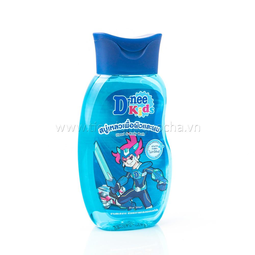 Tắm Gội 2 In 1 Dành Cho Trẻ Em D-nee Kids - Blue Smart 200ml