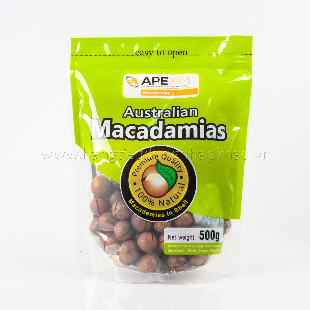 Hạt Macadamias Úc 500g