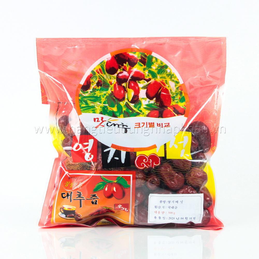 Táo Đỏ Sấy Khô Hàn Quốc 500g