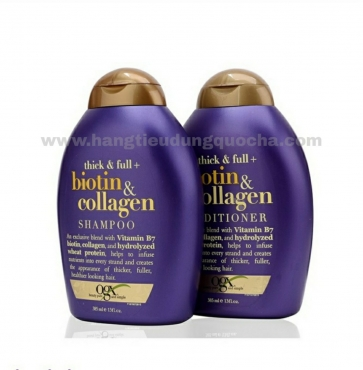 Combo Gội - Xả Biotin & Collagen OGX 385ml