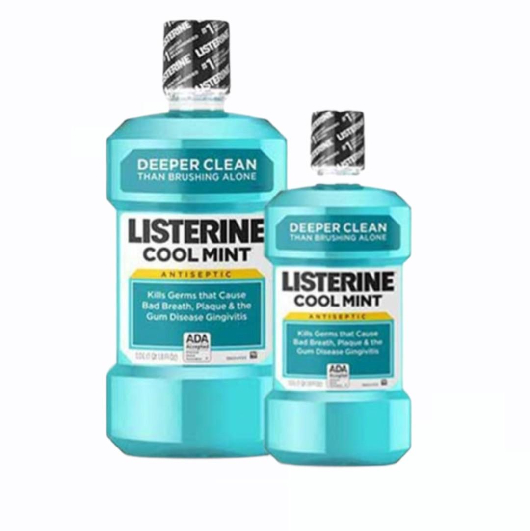 Nước Súc Miệng - Listerine 750ml (Tặng kèm chai nhỏ 250ml)